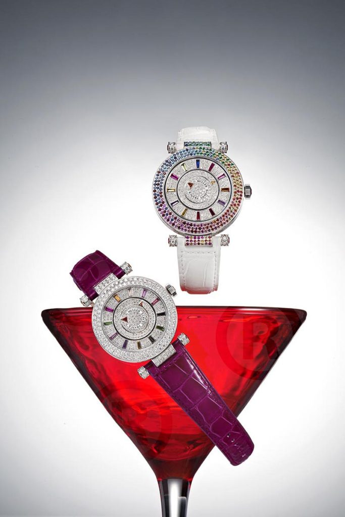 Franck Muller with red wine glass